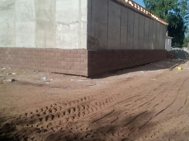 Цоколь дома фасад облицовка стен бессер блок Уфа