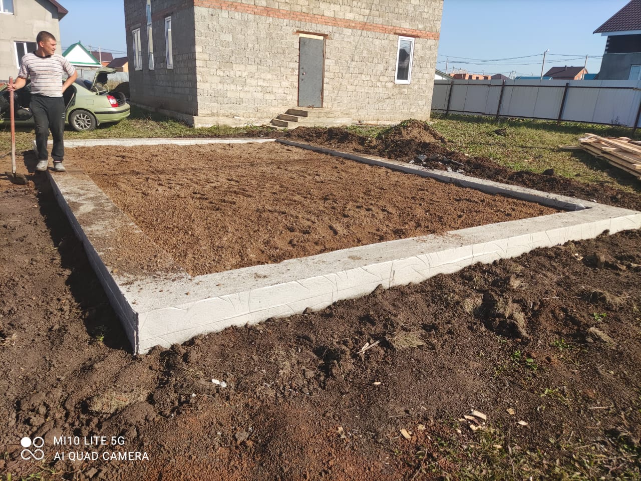 Фундамент свайно-ростверковый для дома гаража забора в Уфе