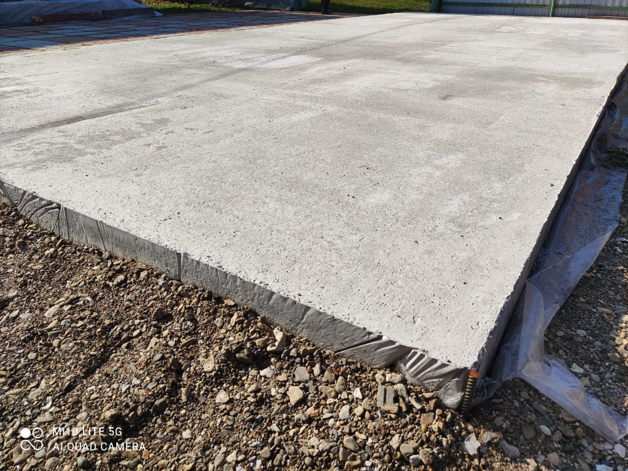 Монолитная плита для гаража с хоз.блоком