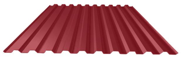 красный лист профнастил