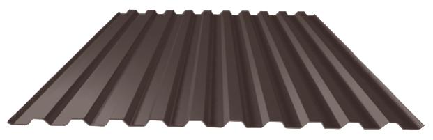 шоколадно-коричневый лист профнастил