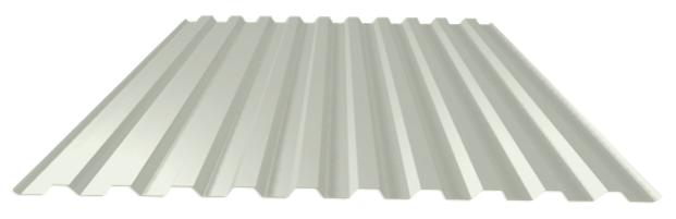 сигнальный-белый лист профнастил
