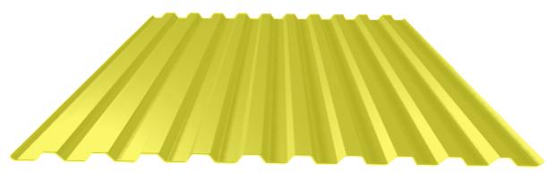 Цинковый-желтый лист профнастил