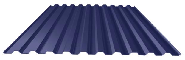 Сигнальный-синий лист профнастил
