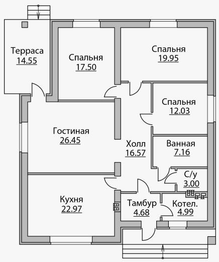 Планировка комнат дома