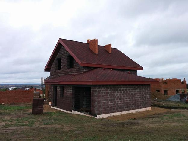 Полумансарда-дом из керамзитоблока с гаражом 1 000 000
