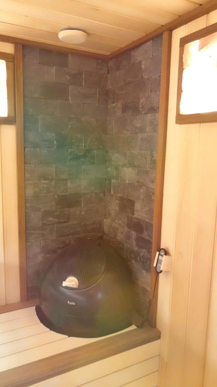 Душевая бани из керамзитоблока Уфа