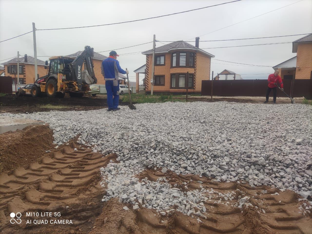 Отсыпка участка щебенкой и грунтом в Нагаево