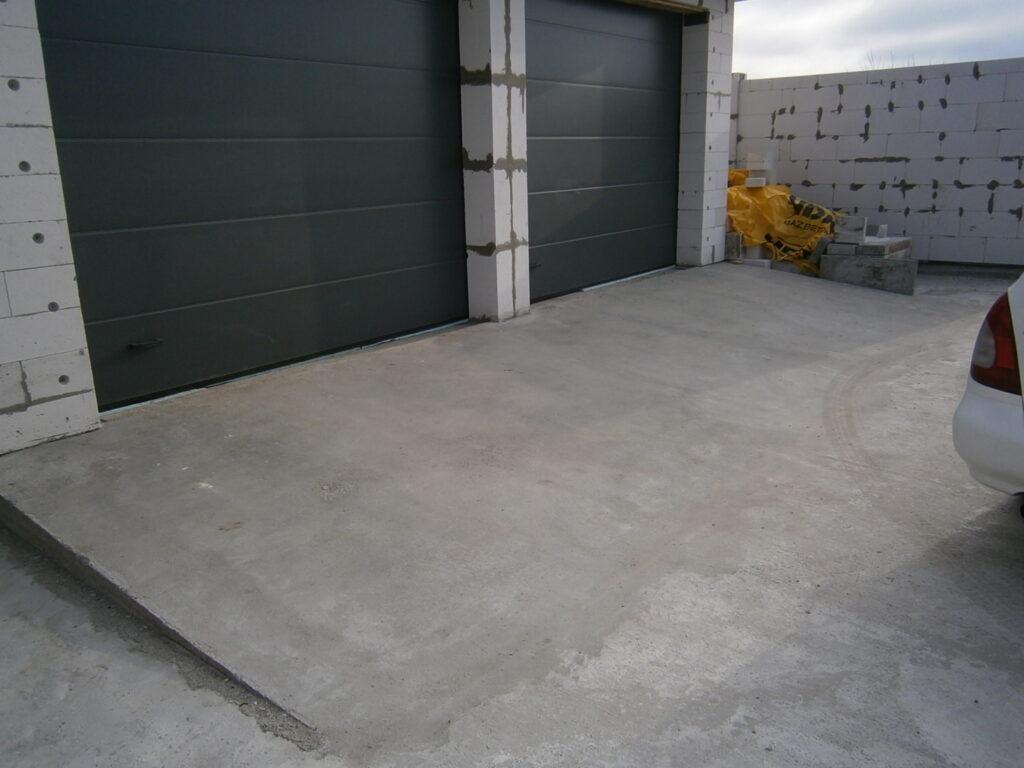 Парковка из бетона
